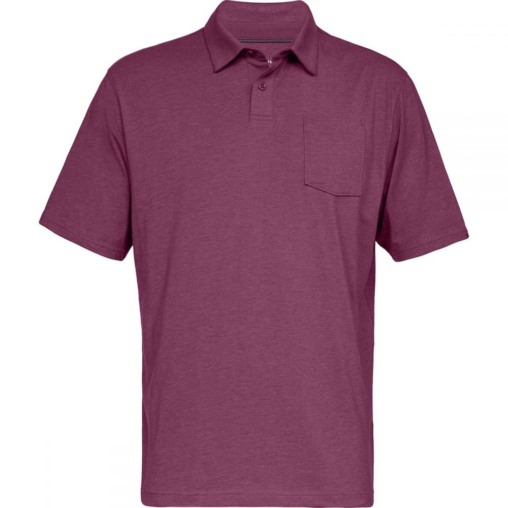 アンダーアーマー Under Armour メンズ トップス ポロシャツ【Charged Cotton Scramble Polo Shirts】Charged Cherry/Charged Cherry