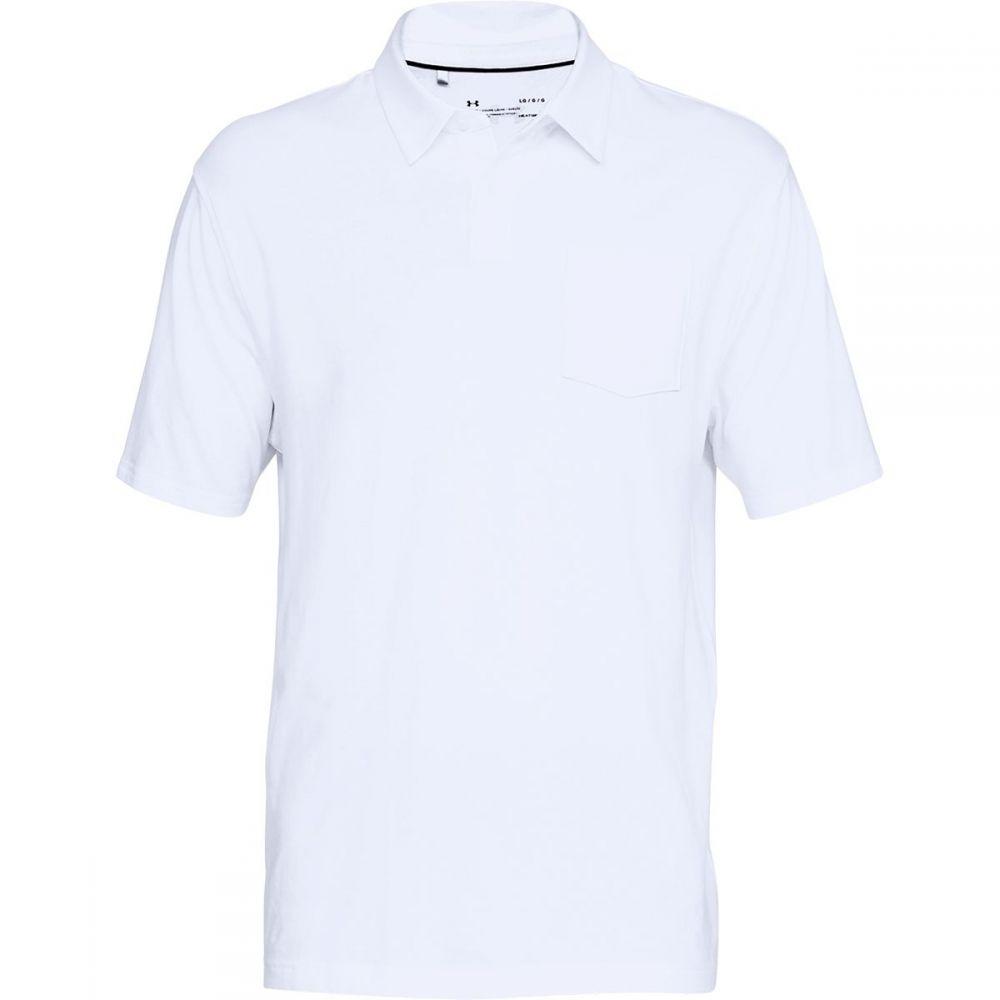 アンダーアーマー Under Armour メンズ トップス ポロシャツ【Charged Cotton Scramble Polo Shirts】White/Overcast Gray/Overcast Gray
