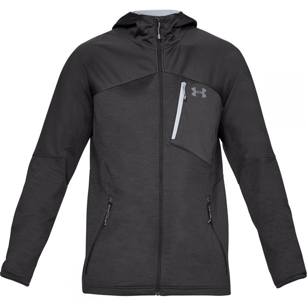 アンダーアーマー Under Armour メンズ トップス フリース【Coldgear Reactor Hooded Fleece Jackets】Charcoal/Steel