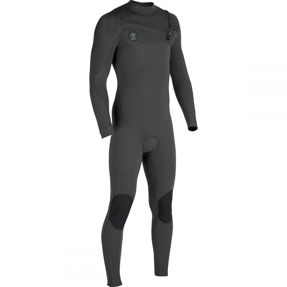 ヴィスラ Vissla メンズ 水着・ビーチウェア ウェットスーツ【The 7 Seas 4/3 Chest Zip Long - Sleeve Wetsuits】Charcoal