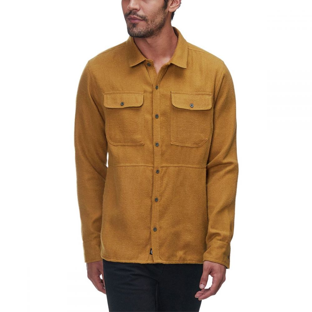 バックカントリー Backcountry メンズ トップス シャツ【Deer Creek Heavyweight Flannels】Mustard Gold/Grape Leaf