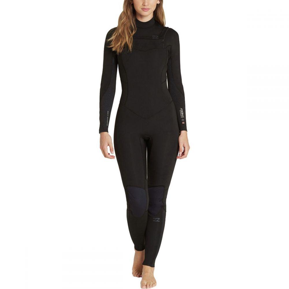 ビラボン Billabong レディース 水着・ビーチウェア ウェットスーツ【4/3 Furnace Synergy Back - Zip Full Wetsuit】Black