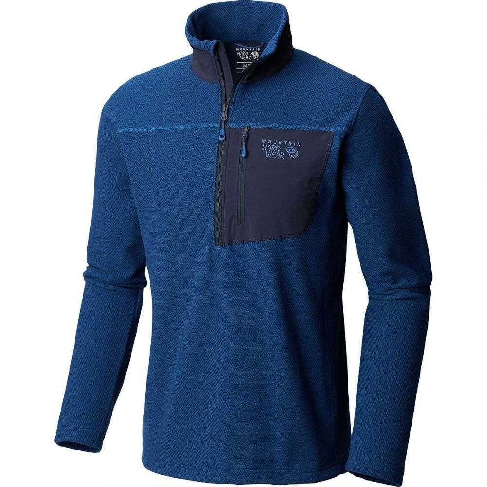 マウンテンハードウェア Mountain Hardwear メンズ トップス フリース【Toasty Twill 1/2 - Zip Pullover Jackets】Nightfall Blue