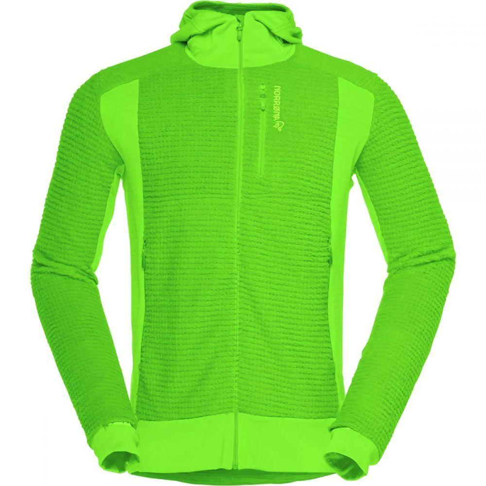 ノローナ Norrona メンズ トップス フリース【Lofoten Alpha Raw Hooded Fleece Jackets】Clean Green