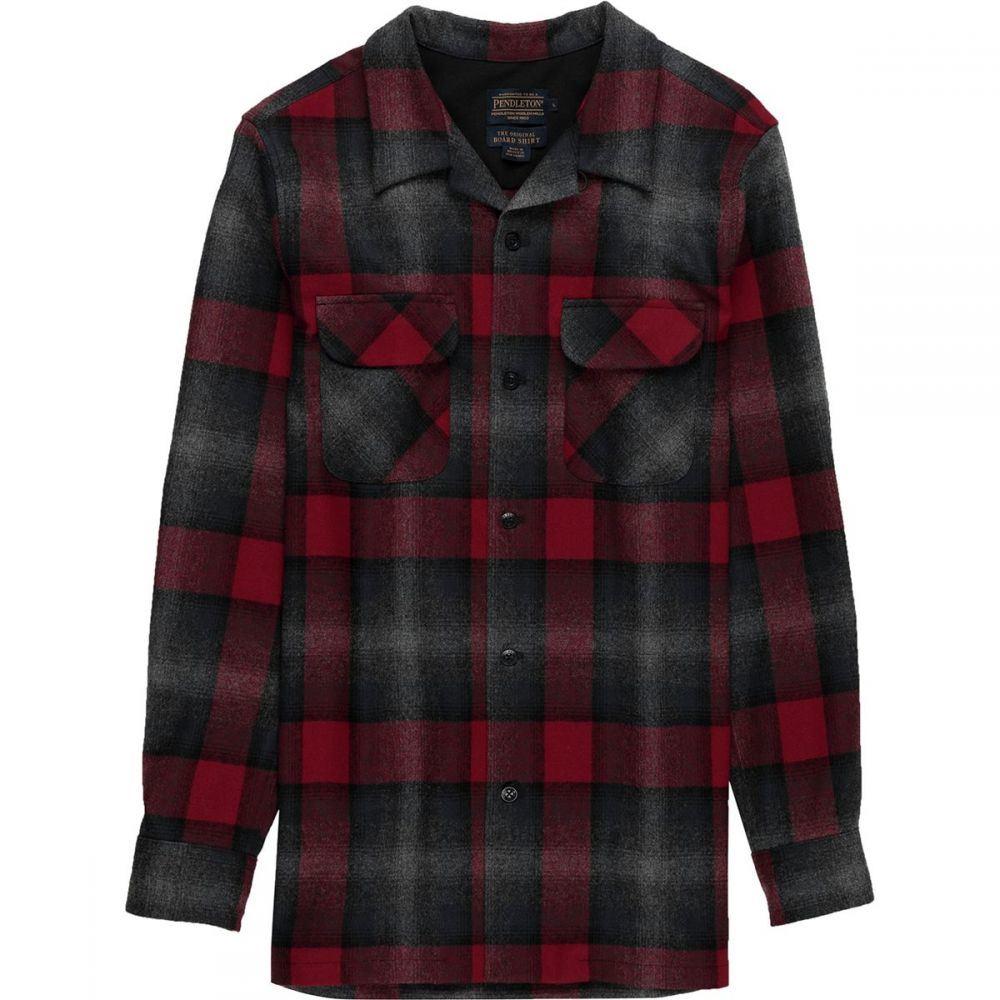 ペンドルトン Pendleton メンズ トップス シャツ【Fitted Board Shirts】Black/Grey Mix/Red Ombre