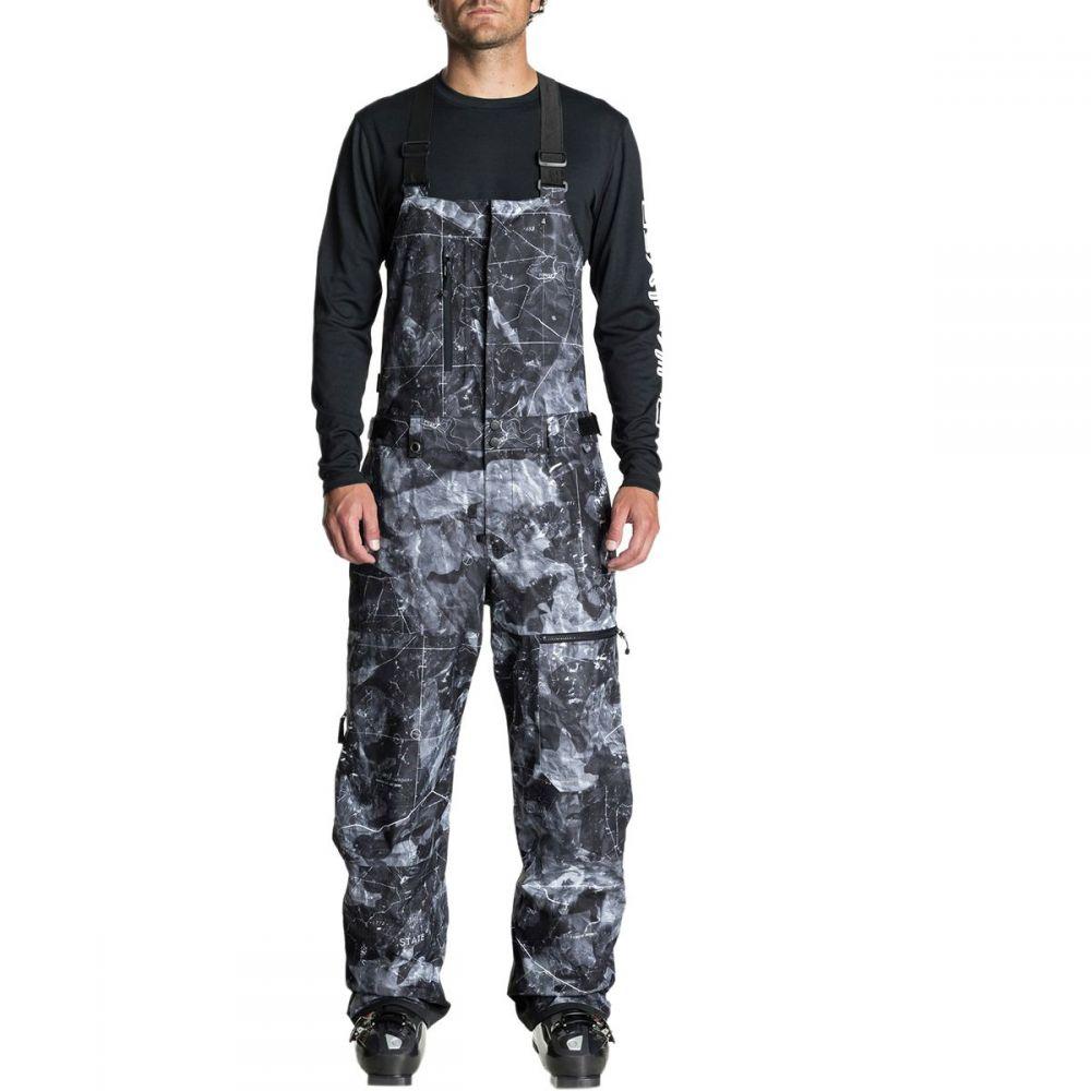 クイックシルバー Quiksilver メンズ スキー・スノーボード ボトムス・パンツ【Stratus Bib Pants】Black/Tannenbaum