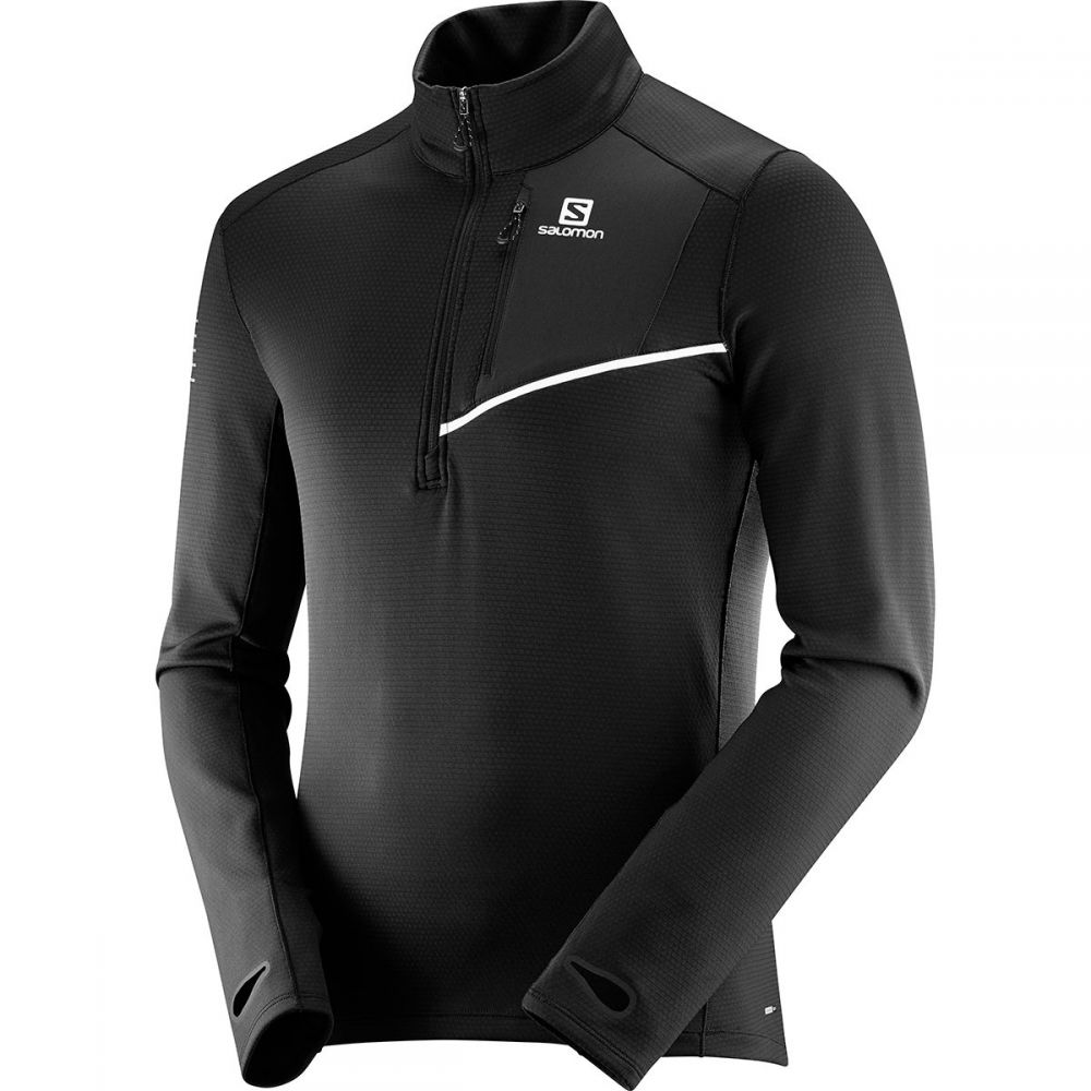 サロモン Salomon メンズ トップス【Fast Wing Mid Long - Sleeve Shirts】Black/Black