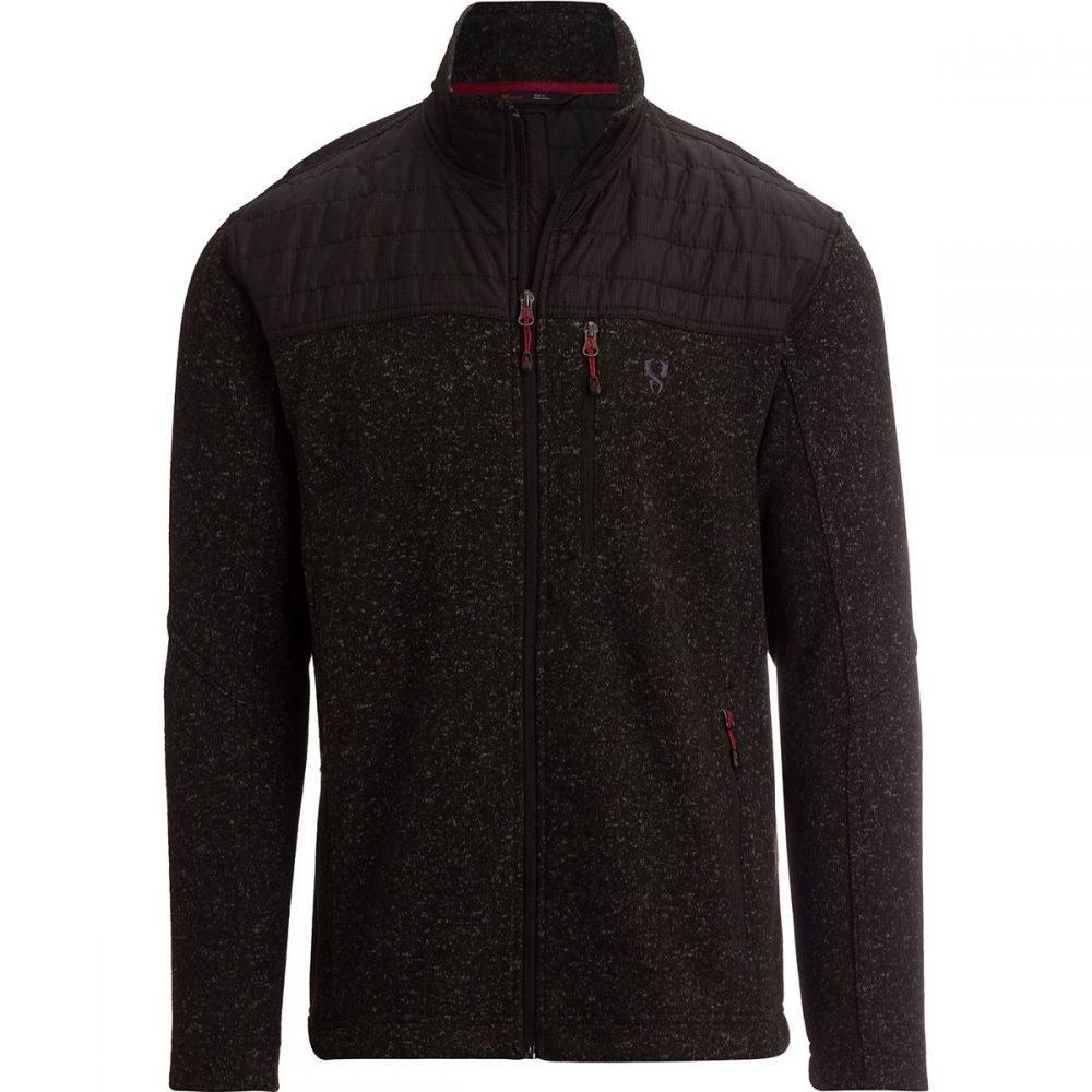 ストイック Stoic メンズ トップス フリース【Nylon Yoke Sweater Fleece Jackets】Jet Black