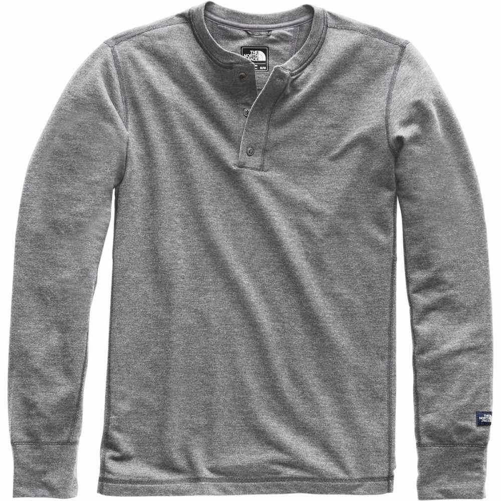 ザ ノースフェイス The North Face メンズ トップス 長袖Tシャツ【Terry Long - Sleeve Henley Shirts】Tnf Medium Grey Heather