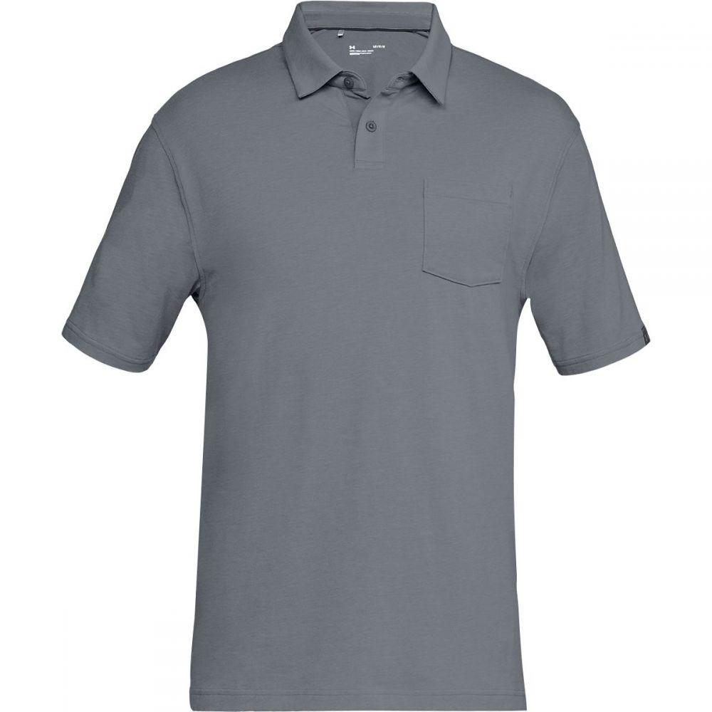 アンダーアーマー Under Armour メンズ トップス ポロシャツ【Charged Cotton Scramble Polo Shirts】Zinc Gray/Zinc Gray