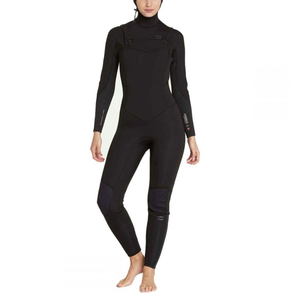 ビラボン Billabong レディース 水着・ビーチウェア ウェットスーツ【5/4 Furnace Carbon Chest - Zip Hooded Wetsuit】Black