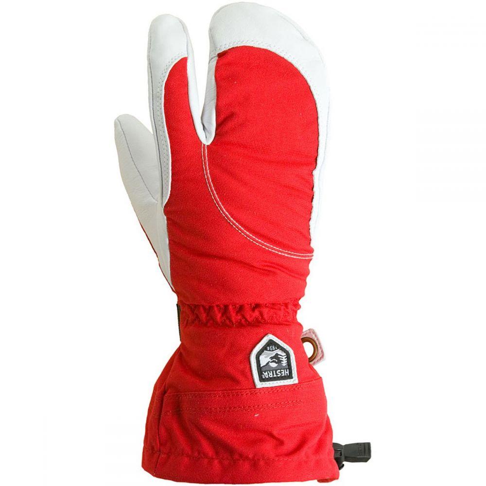ヘスタ Hestra レディース 手袋・グローブ【Heli 3 - Finger Glove】Red/Off White