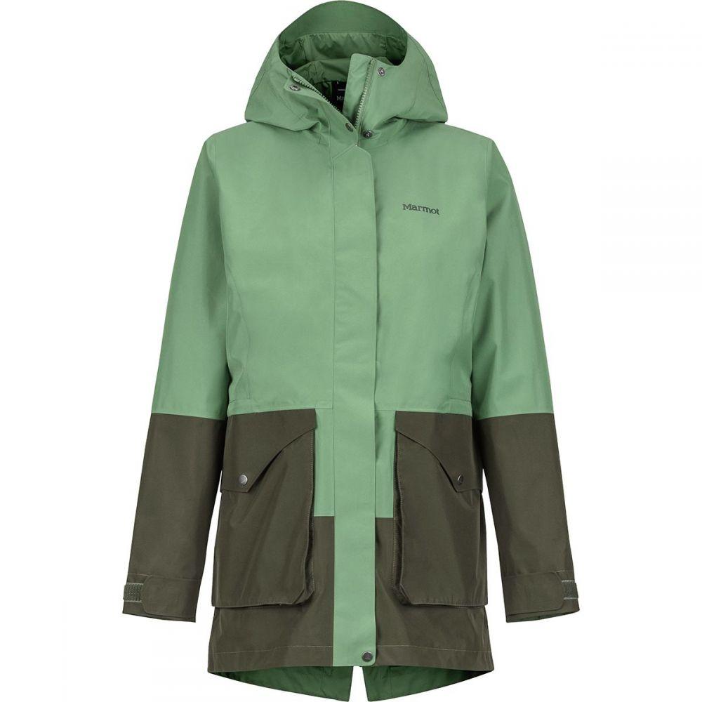 マーモット Marmot レディース アウター レインコート【Wend Jacket】Vine Green/Forest Night