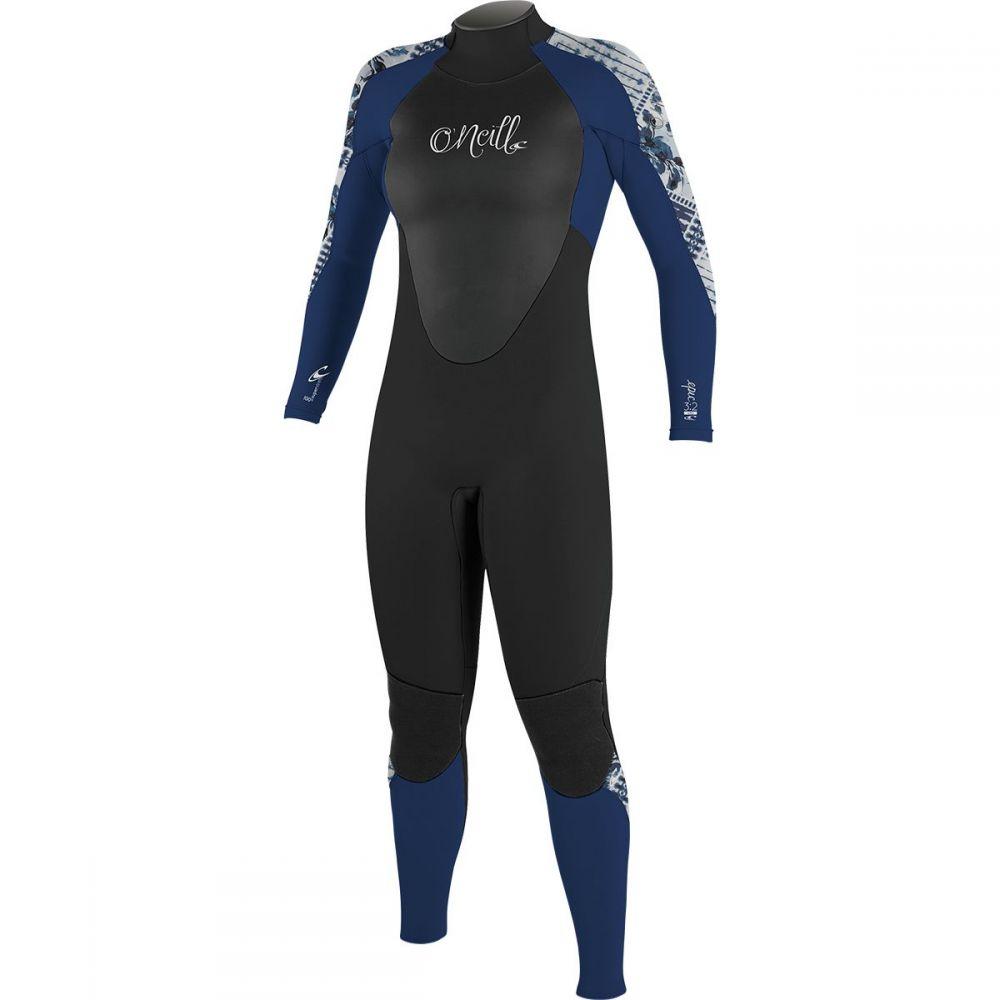 オニール O'Neill レディース 水着・ビーチウェア ウェットスーツ【Epic 3/2mm Back Zip Full Wetsuit】Black/Navy/Indigo Patchwork