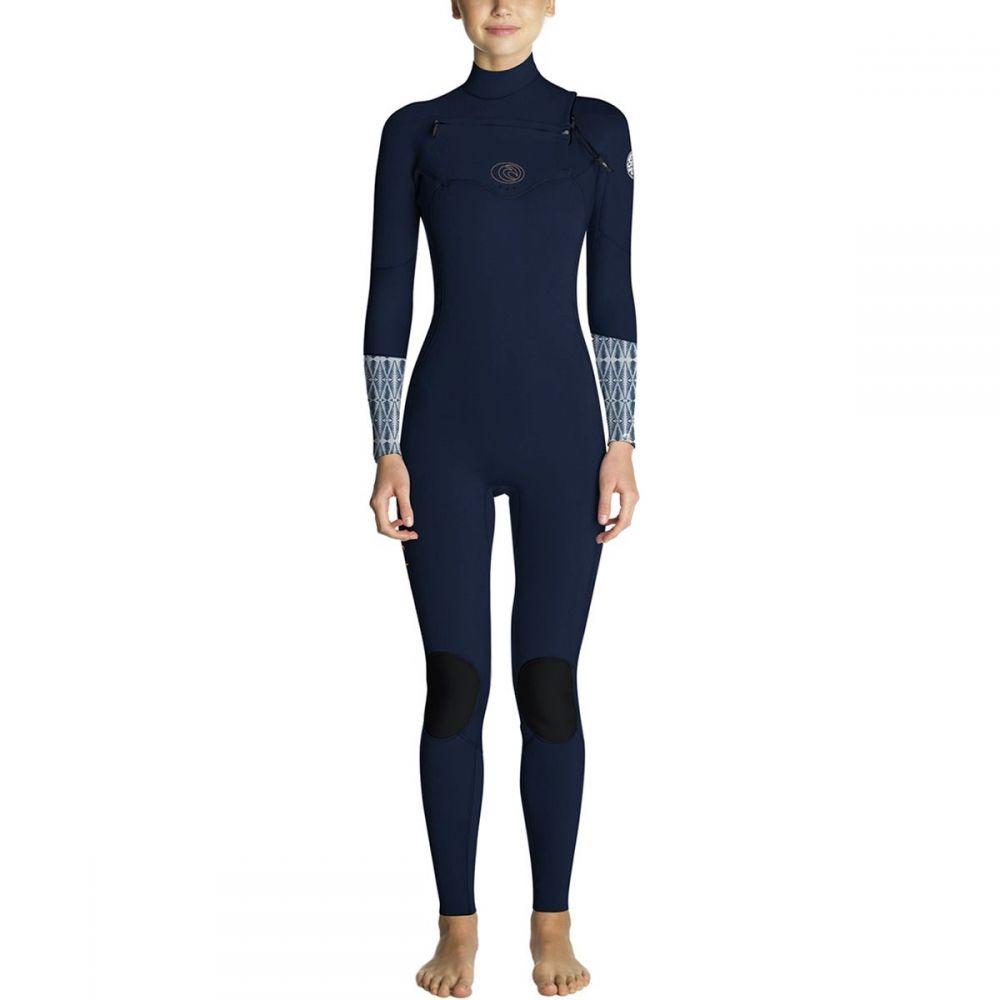 リップカール Rip Curl レディース 水着・ビーチウェア ウェットスーツ【Flash Bomb 4/3 Chest - Zip Full Wetsuit】Blue