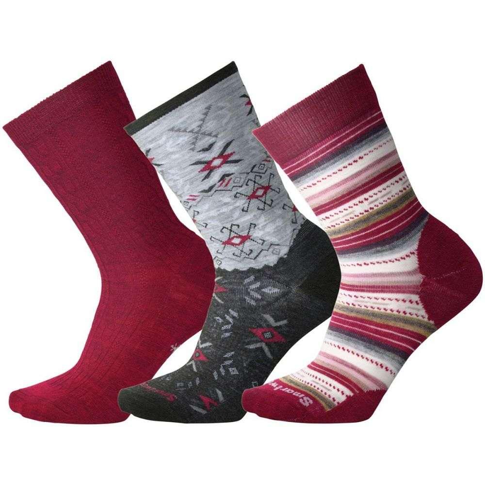 スマートウール Smartwool レディース インナー・下着 ソックス【Trio 2 Sock - 3 - Pack】Tibetan Red H