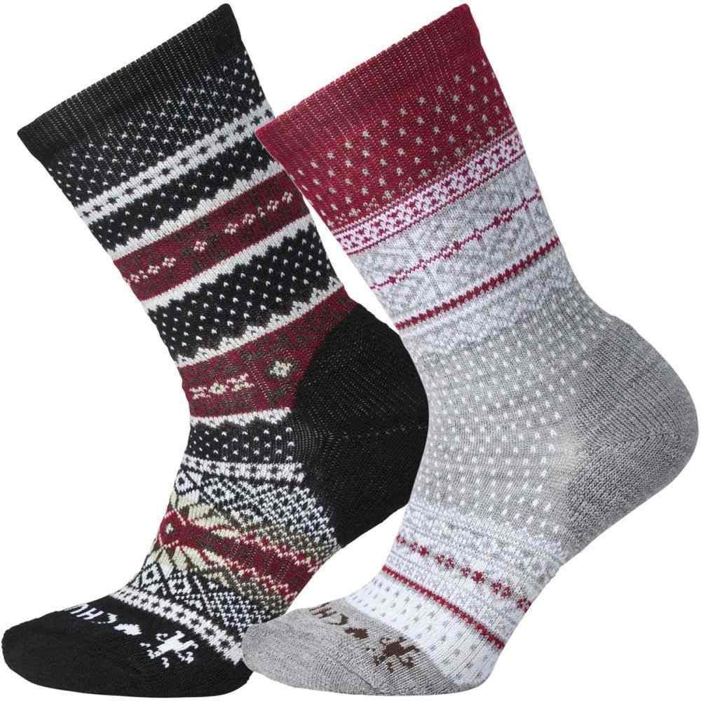 スマートウール Smartwool レディース インナー・下着 ソックス【CHUP I Sock - 2 Pack】Black/Tibetan Red