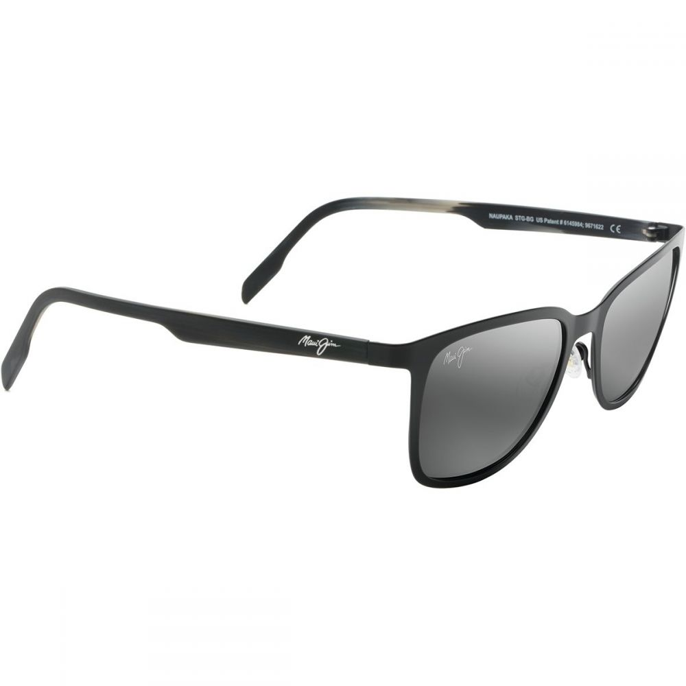 マウイジム Maui Jim レディース メガネ・サングラス【Naupaka Polarized Sunglasses】Satin Black/Neutral Grey