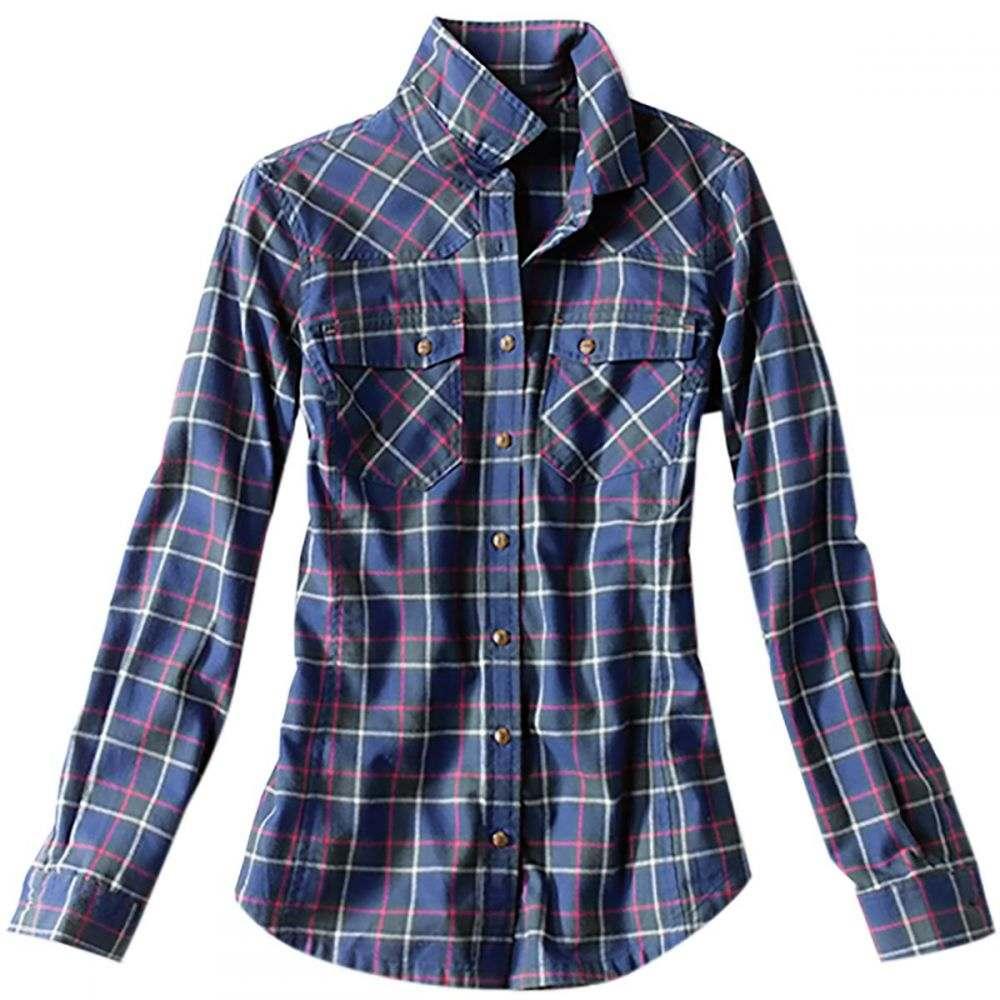 オービス Orvis レディース 釣り・フィッシング トップス【Misty Morning Western Flannel Shirt】Blue Spruce
