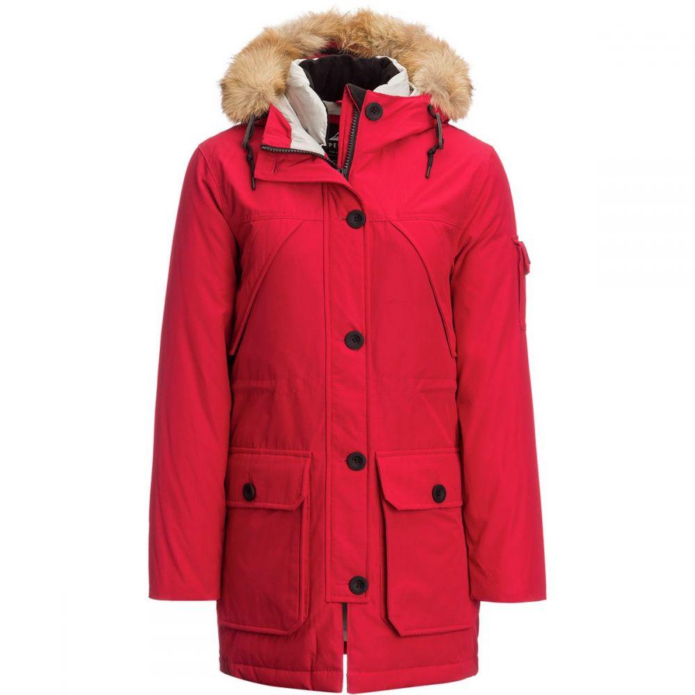 ペンフィールド Penfield レディース アウター ダウン・中綿ジャケット【Hoosac Down Jacket】Red Real Fur