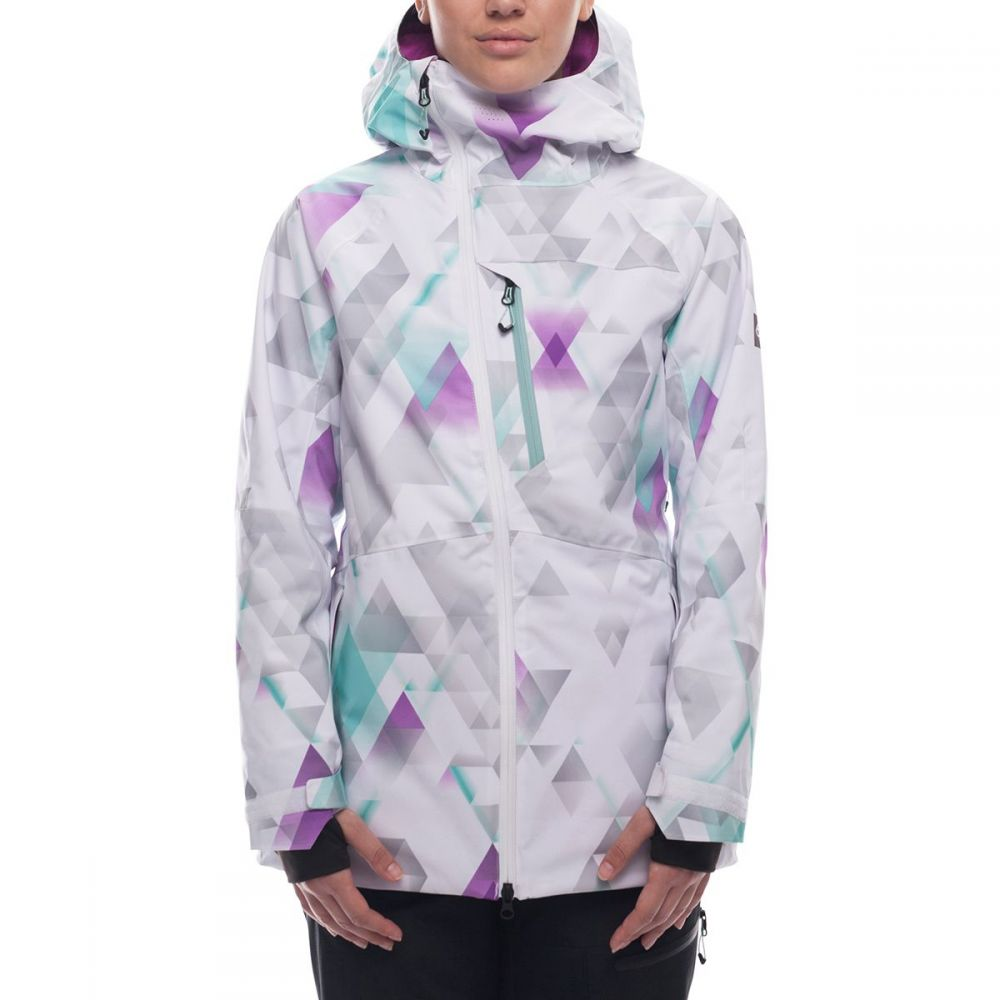シックス エイト シックス 686 レディース スキー・スノーボード アウター【Hydra GLCR Insulated Jacket】Geo Fade