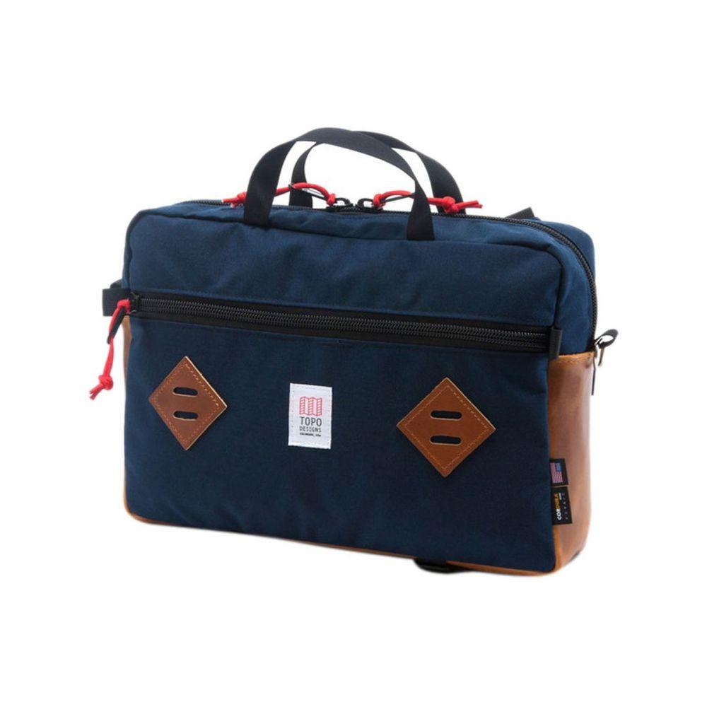 トポ デザイン Topo Designs レディース バッグ【Mountain 13L Briefcase】Navy/Brown Leather