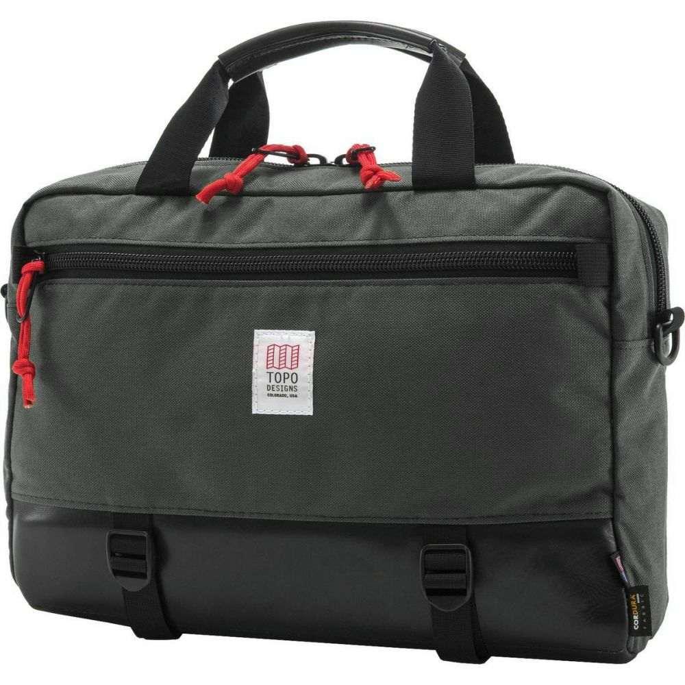 トポ デザイン Topo Designs レディース バッグ【Commuter 13L Briefcase】Charcoal/Black Leather