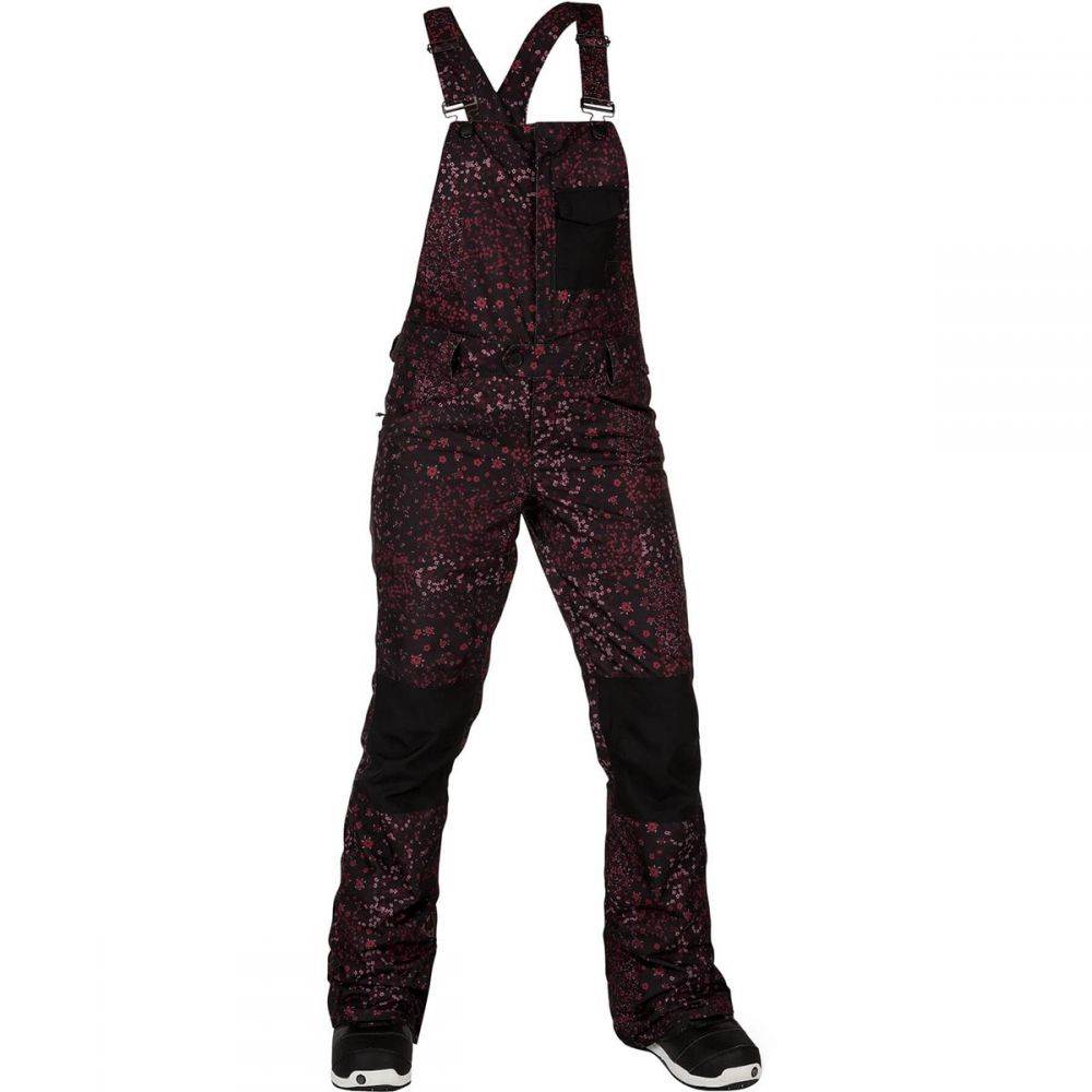 ボルコム Volcom レディース スキー・スノーボード ボトムス・パンツ【Swift Bib Overall Pant】Black Floral Print