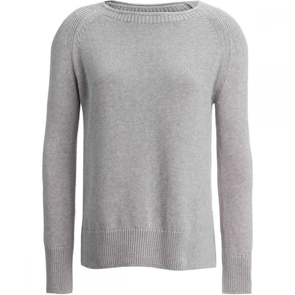 バーブァー Barbour レディース トップス ニット・セーター【Portsdown Crew Sweater】Light Grey Marl