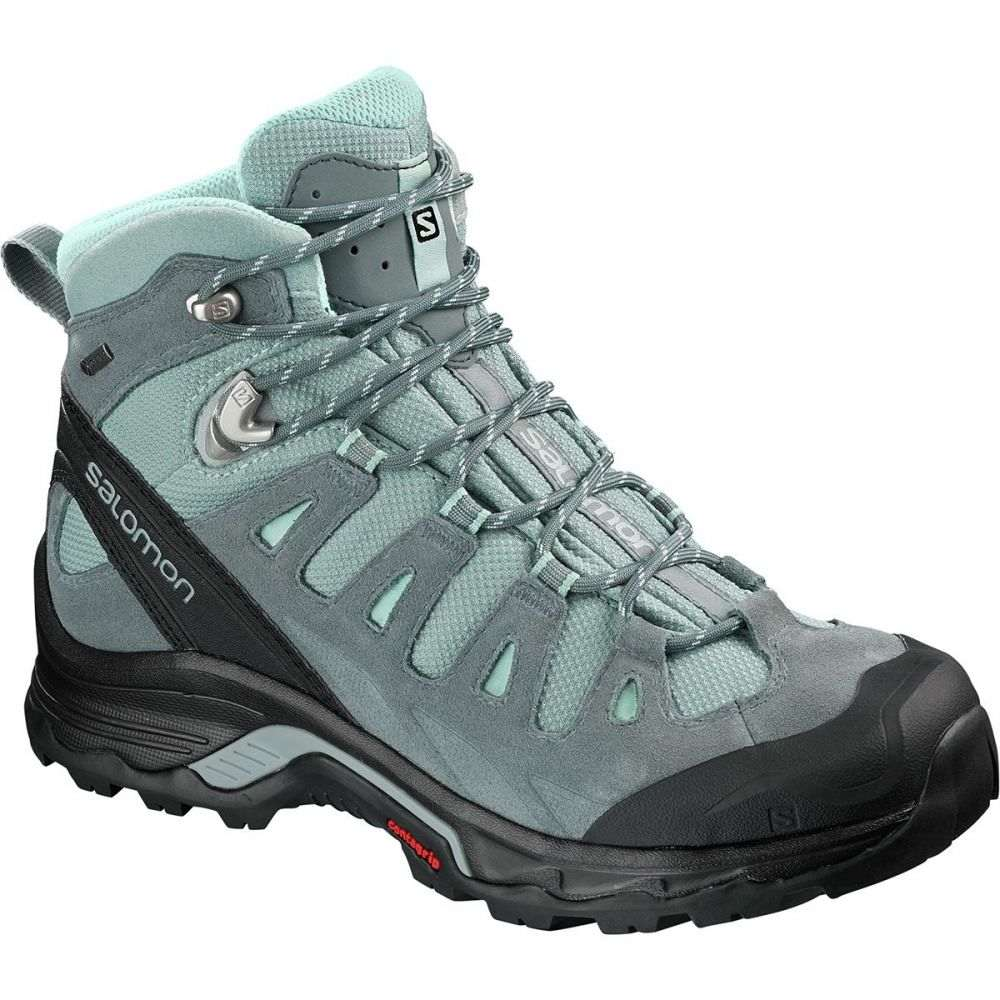 サロモン Salomon レディース ハイキング・登山 シューズ・靴【Quest Prime GTX Backpacking Boot】Lead/Stormy Weather/Eggshell Blue