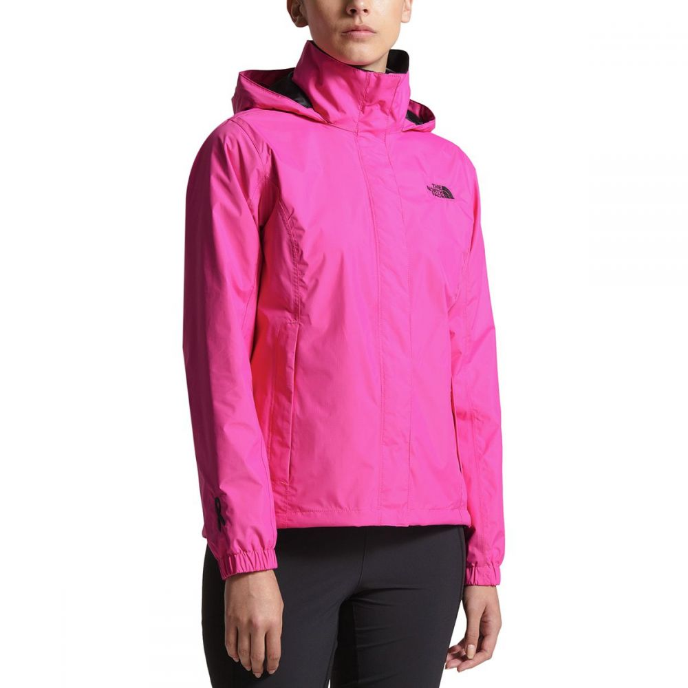 ザ ノースフェイス The North Face レディース アウター レインコート【Pink Ribbon Resolve Jacket】Raspberry Rose/Tnf Black