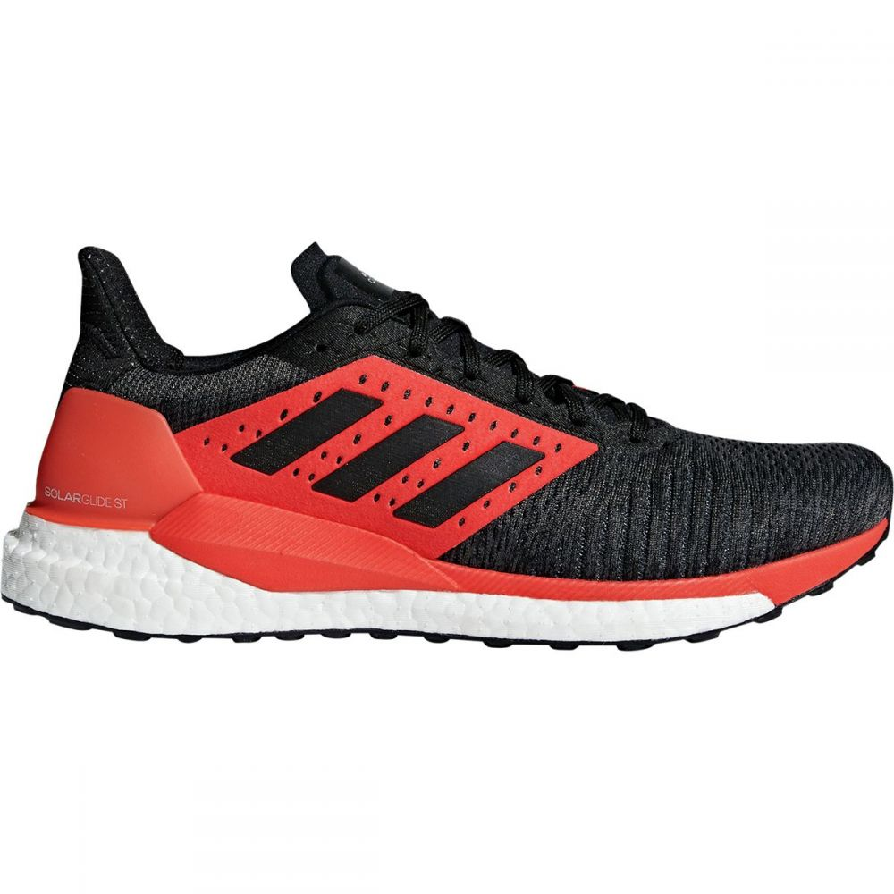 アディダス Adidas メンズ ランニング・ウォーキング シューズ・靴【Solar Glide ST Boost Running Shoes】Core Black/Core Black/Hi-res Red S18