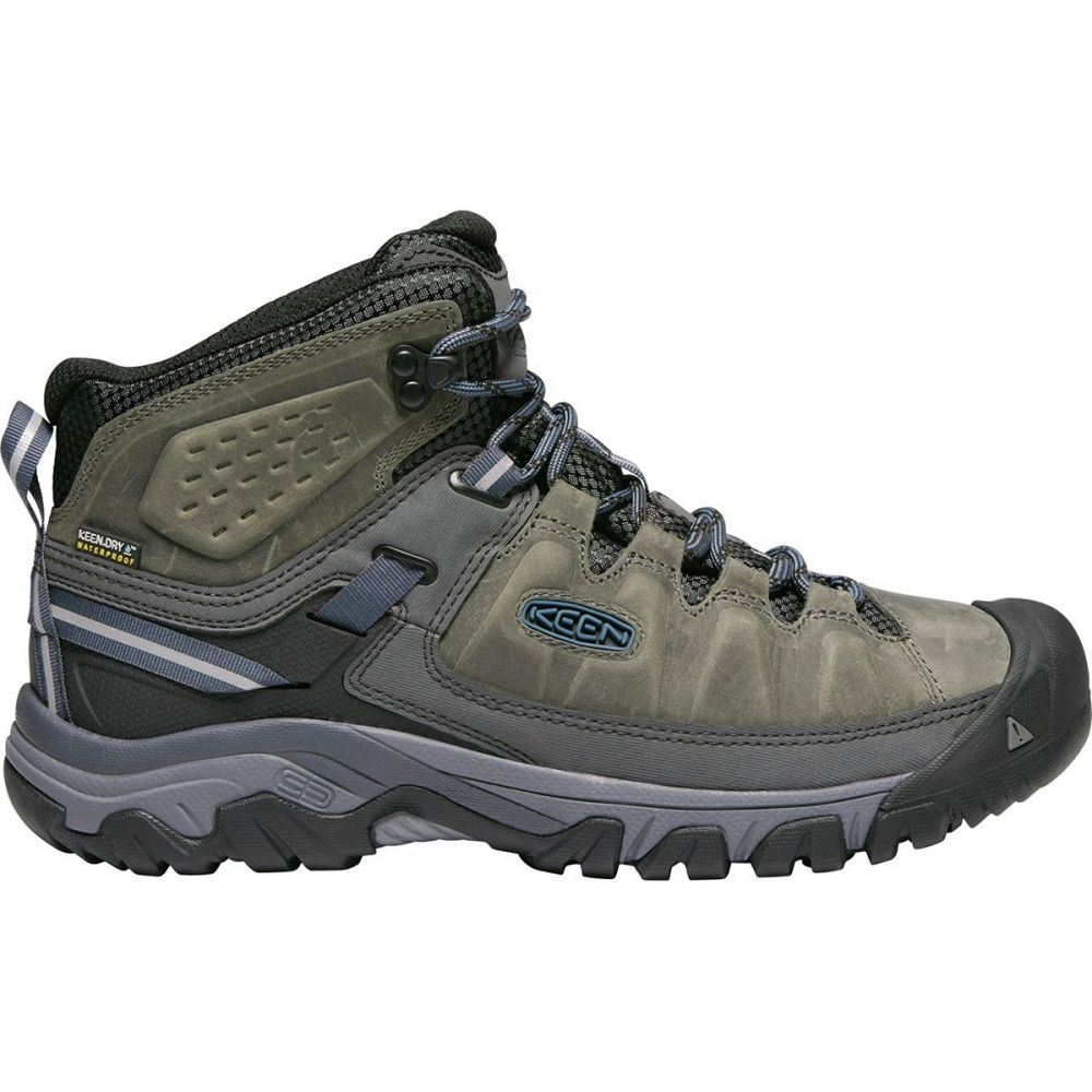 キーン KEEN メンズ ハイキング・登山 シューズ・靴【Targhee III Mid Leather Waterproof Hiking Boots】Steel Grey/Captains Blue