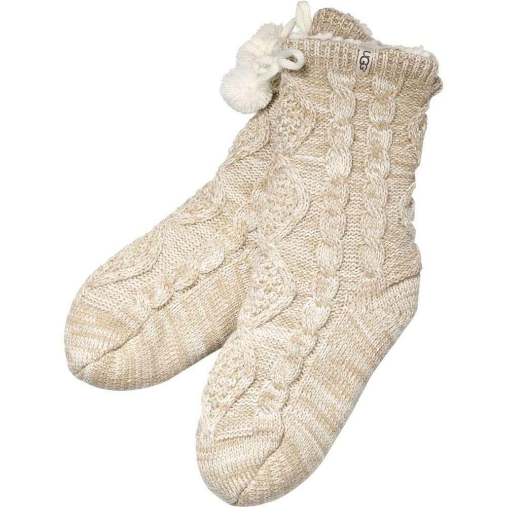 アグ UGG レディース インナー・下着 ソックス【Pom Pom Fleece Lined Crew Sock】Cream