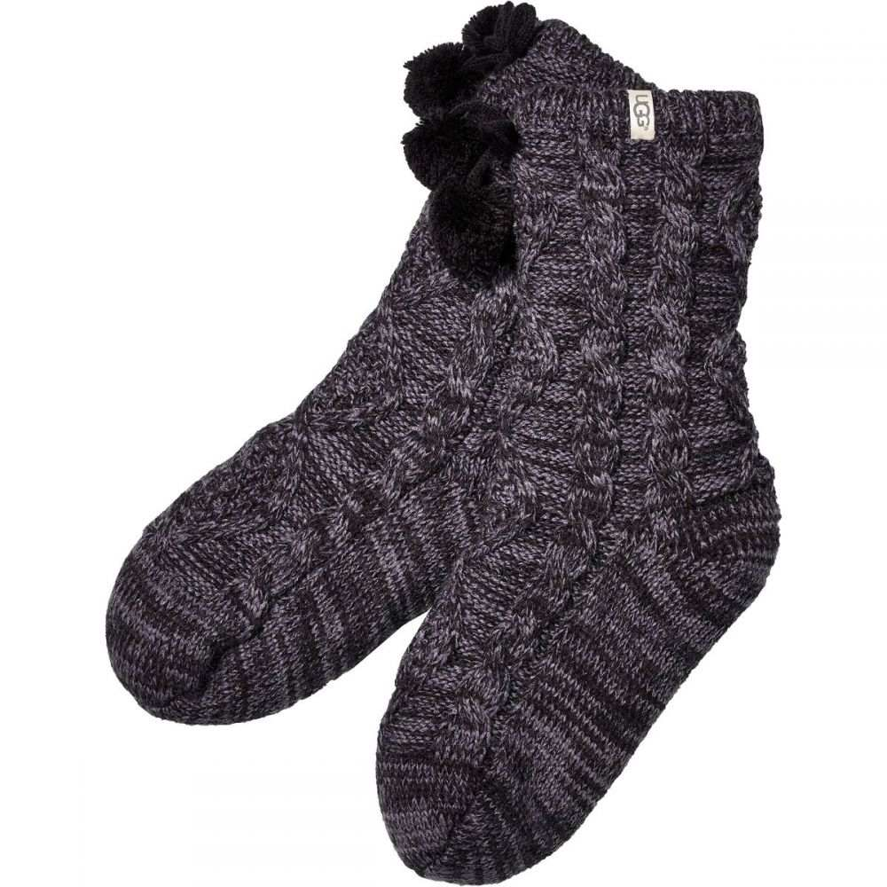 アグ UGG レディース インナー・下着 ソックス【Pom Pom Fleece Lined Crew Sock】Nightfall