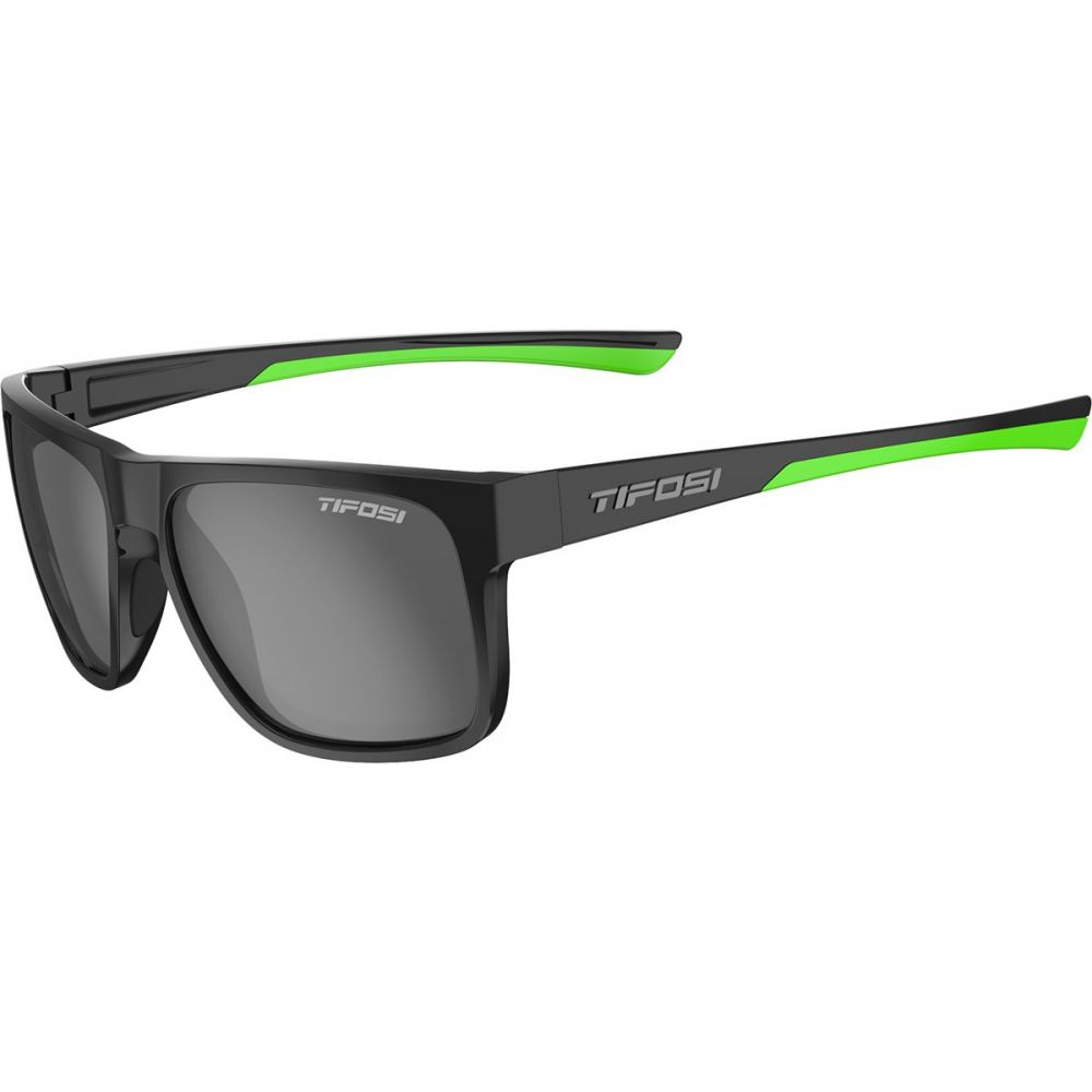 ティフォージ Tifosi Optics レディース スポーツサングラス【Swick Polarized Sunglasses】Satin Fade Black/Neon-Smoke Polarized Lens