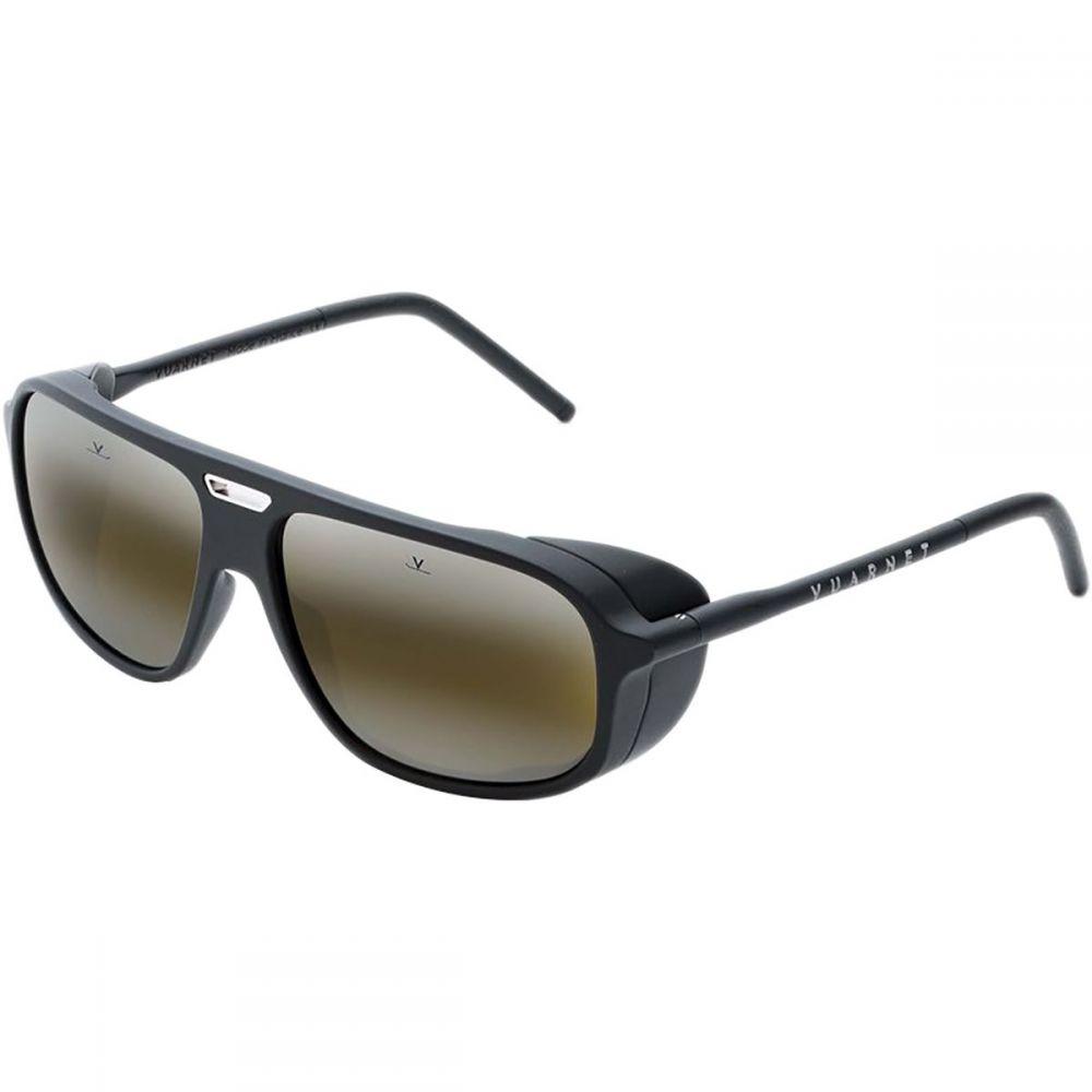 ヴュアルネ Vuarnet レディース スポーツサングラス【Ice Rectangular Sunglasses】Matt Black/Silver Metal Insert/Black/Skilynx