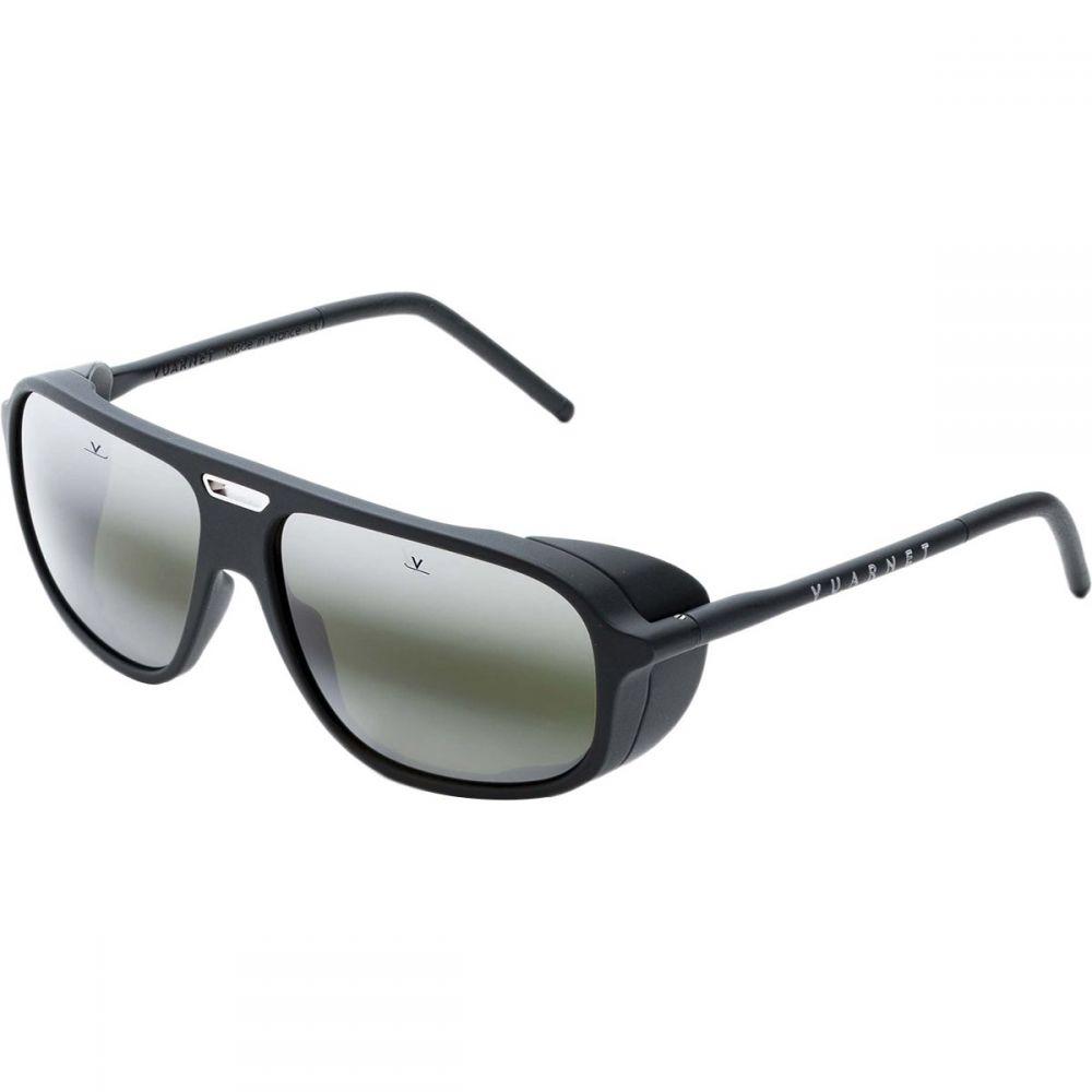 ヴュアルネ Vuarnet レディース スポーツサングラス【Ice Rectangular Sunglasses】Matt Metalized Grey/Gunmetal Metal Insert/Black/Lynx