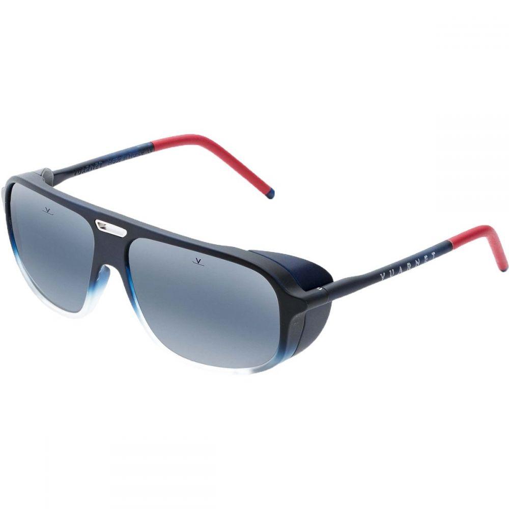ヴュアルネ Vuarnet レディース スポーツサングラス【Ice Rectangular Polarized Sunglasses】Matt Gradient Blue/Ruthenium Metal Insert/Red