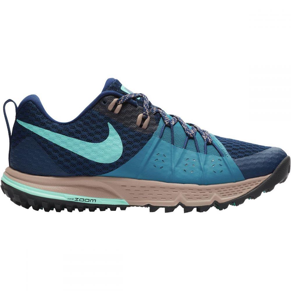 ナイキ Nike レディース ランニング・ウォーキング シューズ・靴【Air Zoom Wildhorse 4 Trail Running Shoe】Blue Void/Aurora Green-Green Abyss