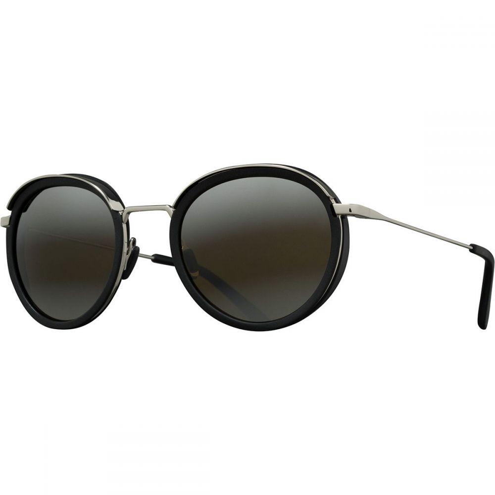 ヴュアルネ Vuarnet レディース メガネ・サングラス【Acetate Round Sunglasses】Black/Silver/Skilynx