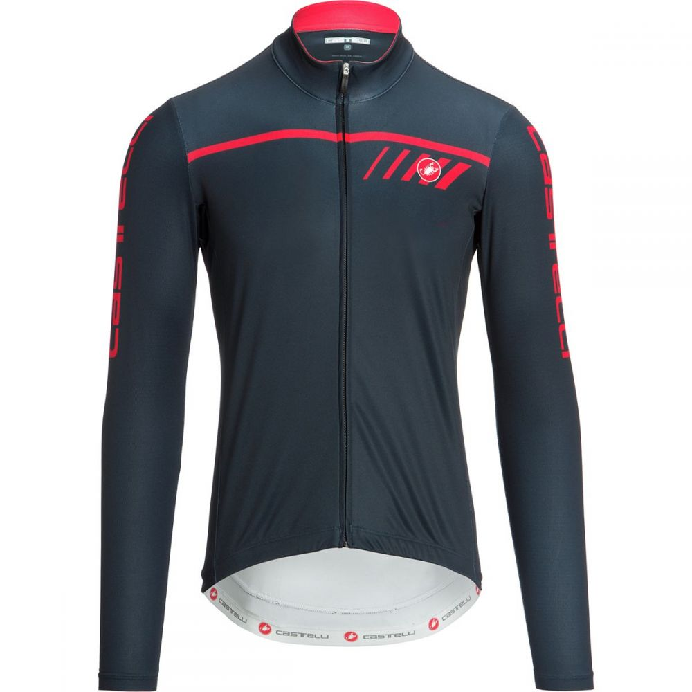 カステリ Castelli メンズ 自転車 トップス【Velocissimo 2 Limited Edition Full - Zip Jerseys】Dark Infinity Blue/Red