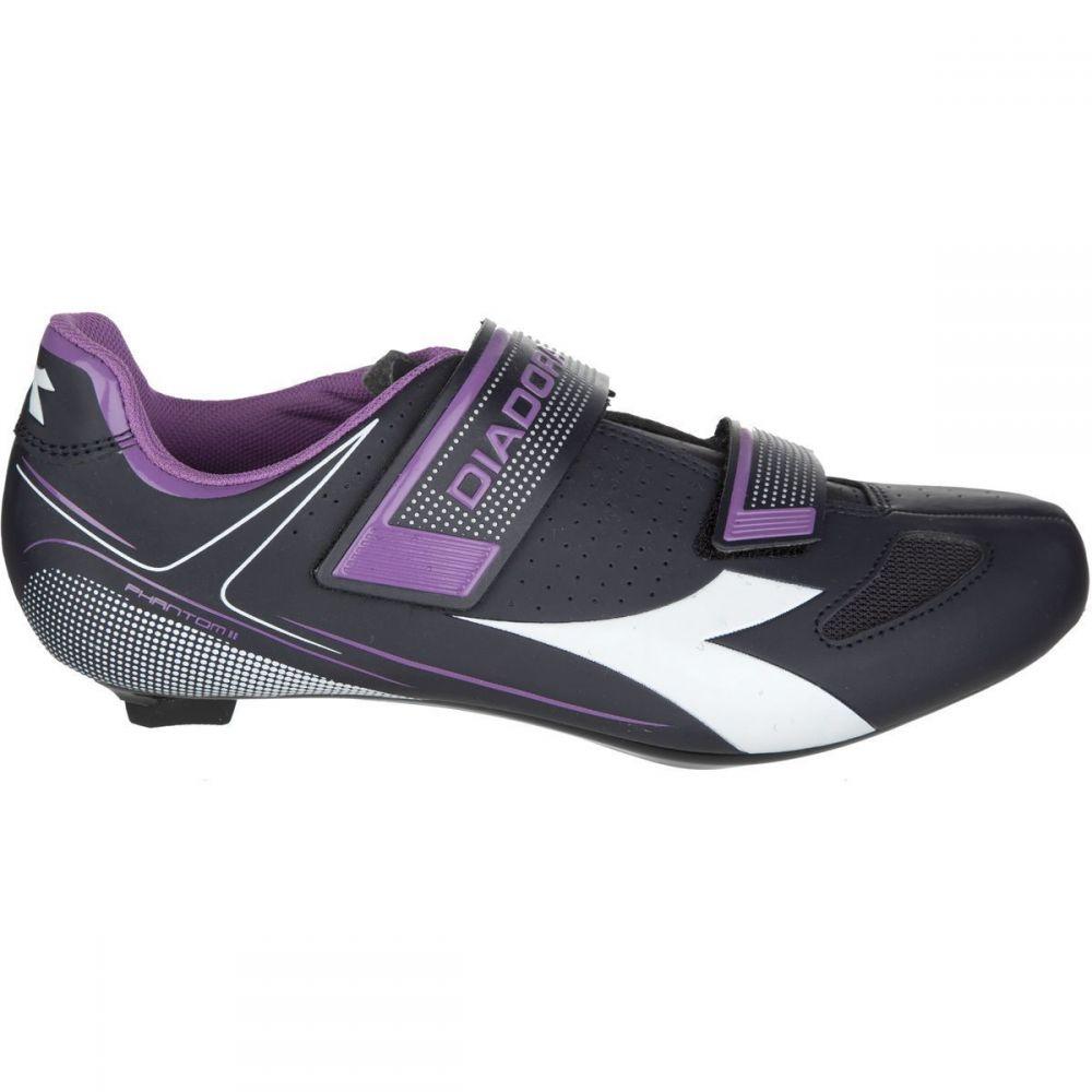 ディアドラ Diadora レディース 自転車 シューズ・靴【Phantom II Cycling Shoes】Dk Smoke/White/Violet Orchid Iris