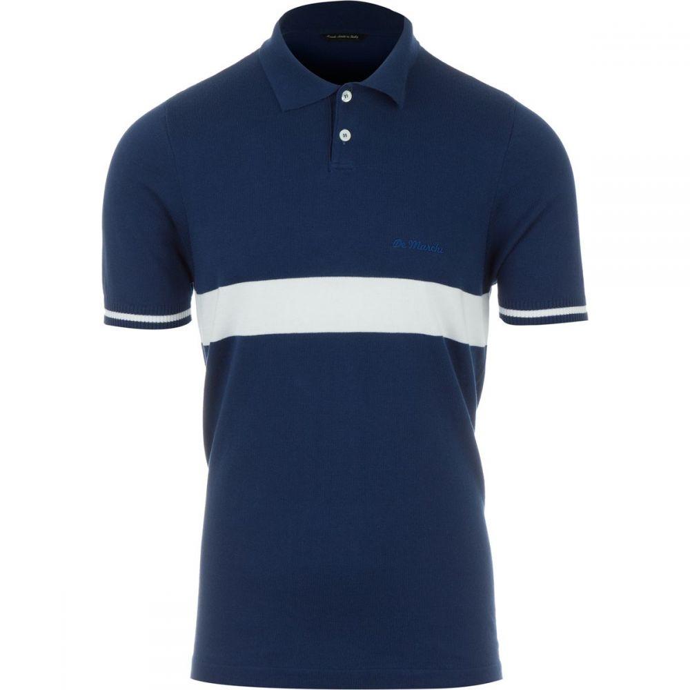 デマルキ De Marchi メンズ 自転車 トップス【Polo Unica Shirts】Navy