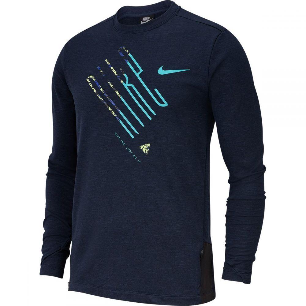ナイキ Nike メンズ ランニング・ウォーキング トップス【Sphere Element Crew Wild Long - Sleeve Running Shirts】Obsidian/Heather/Reflective Silver