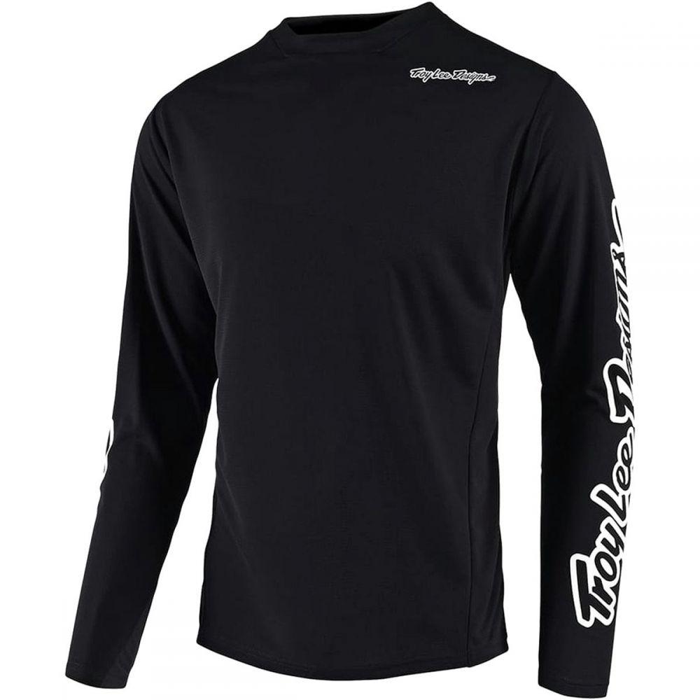 高速配送 トロイリーデザイン Troy Lee Designs メンズ 自転車 Designs トップス 自転車【Sprint Jerseys Troy】Solid Black, amax:d911d1f1 --- rukna.4px.tech