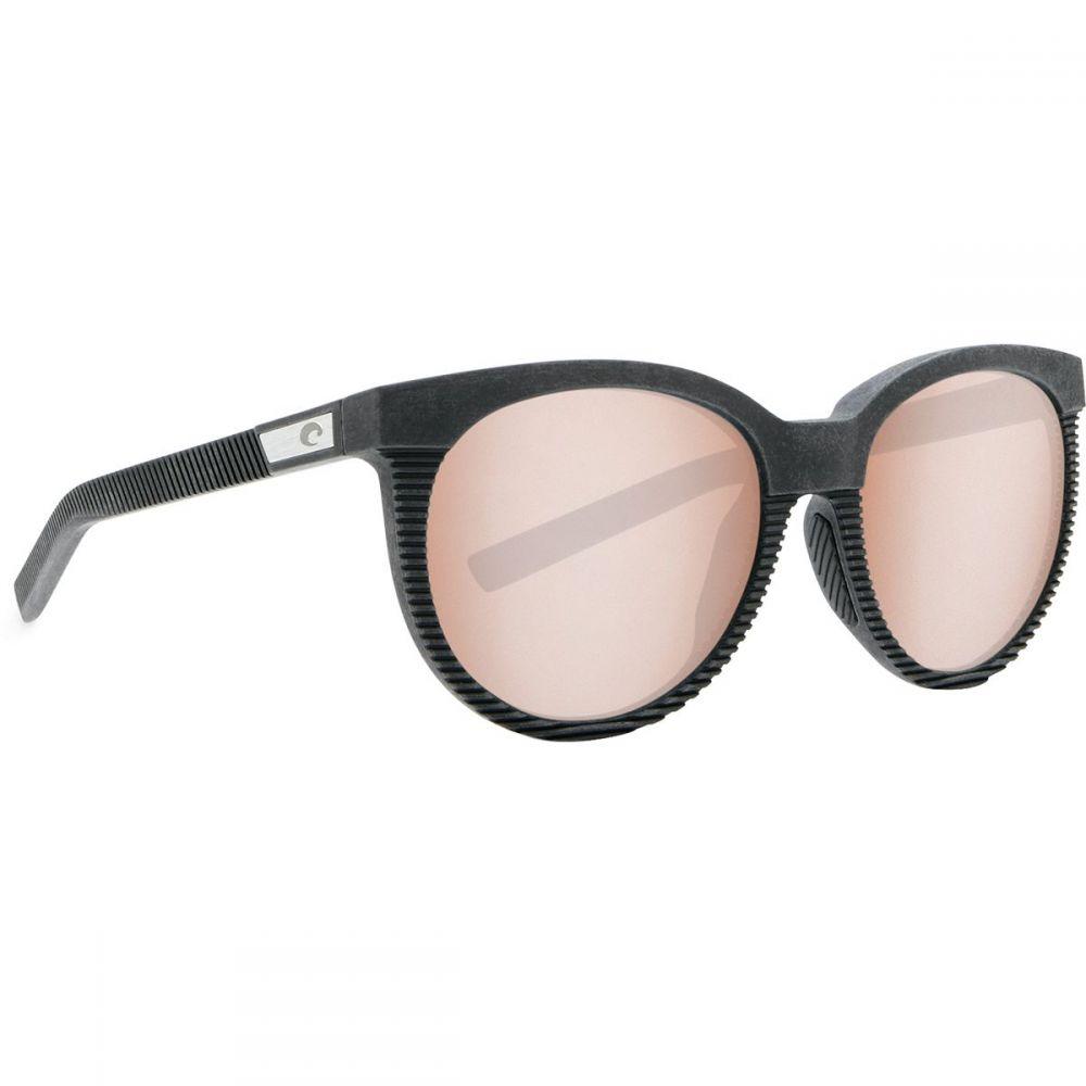 コスタ Costa レディース スポーツサングラス【Victoria 580G Polarized Sunglasses】Net Gray/Black Rubber/Copper Silver Mirror