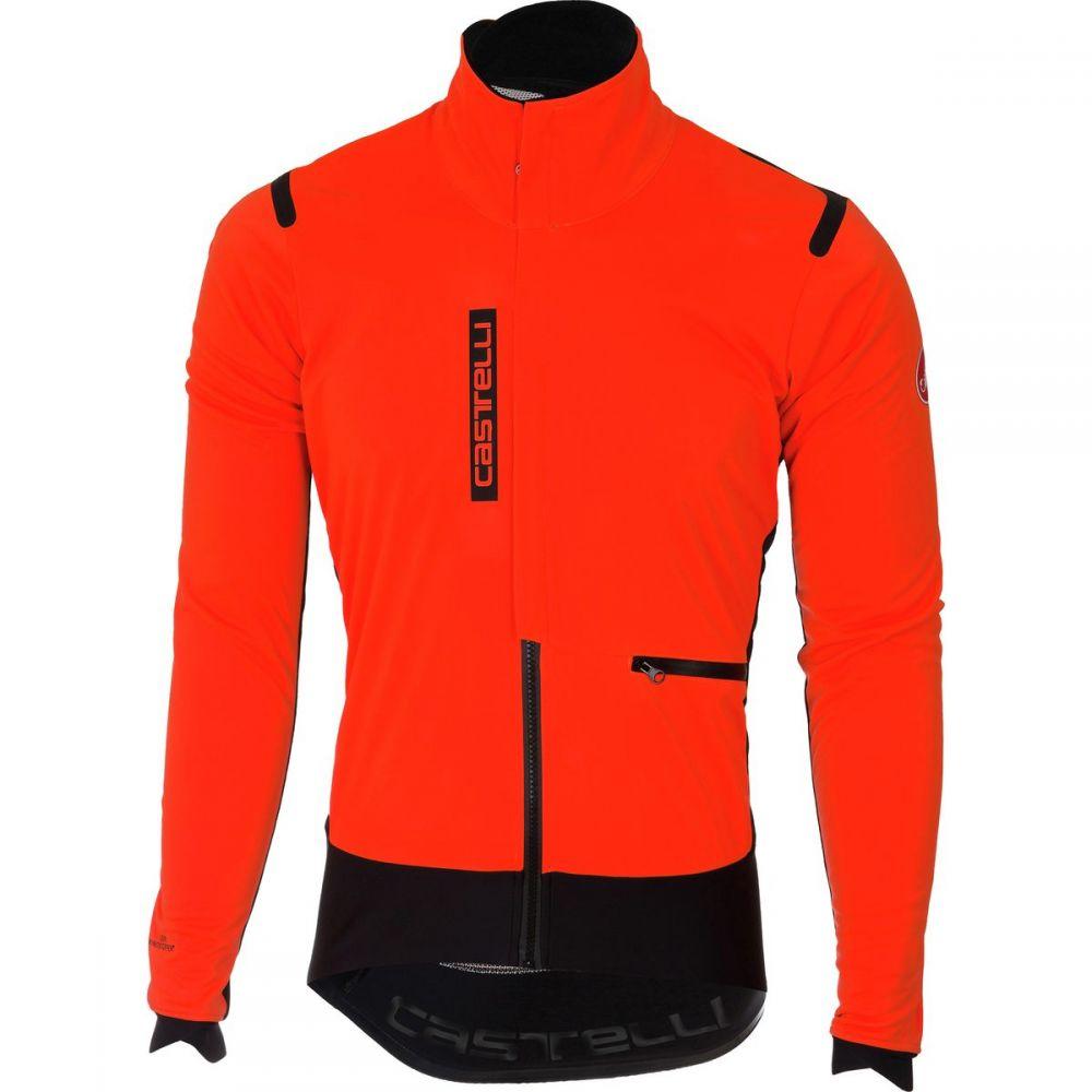 カステリ Castelli メンズ 自転車 アウター【Alpha Ros Jackets】Orange/Black