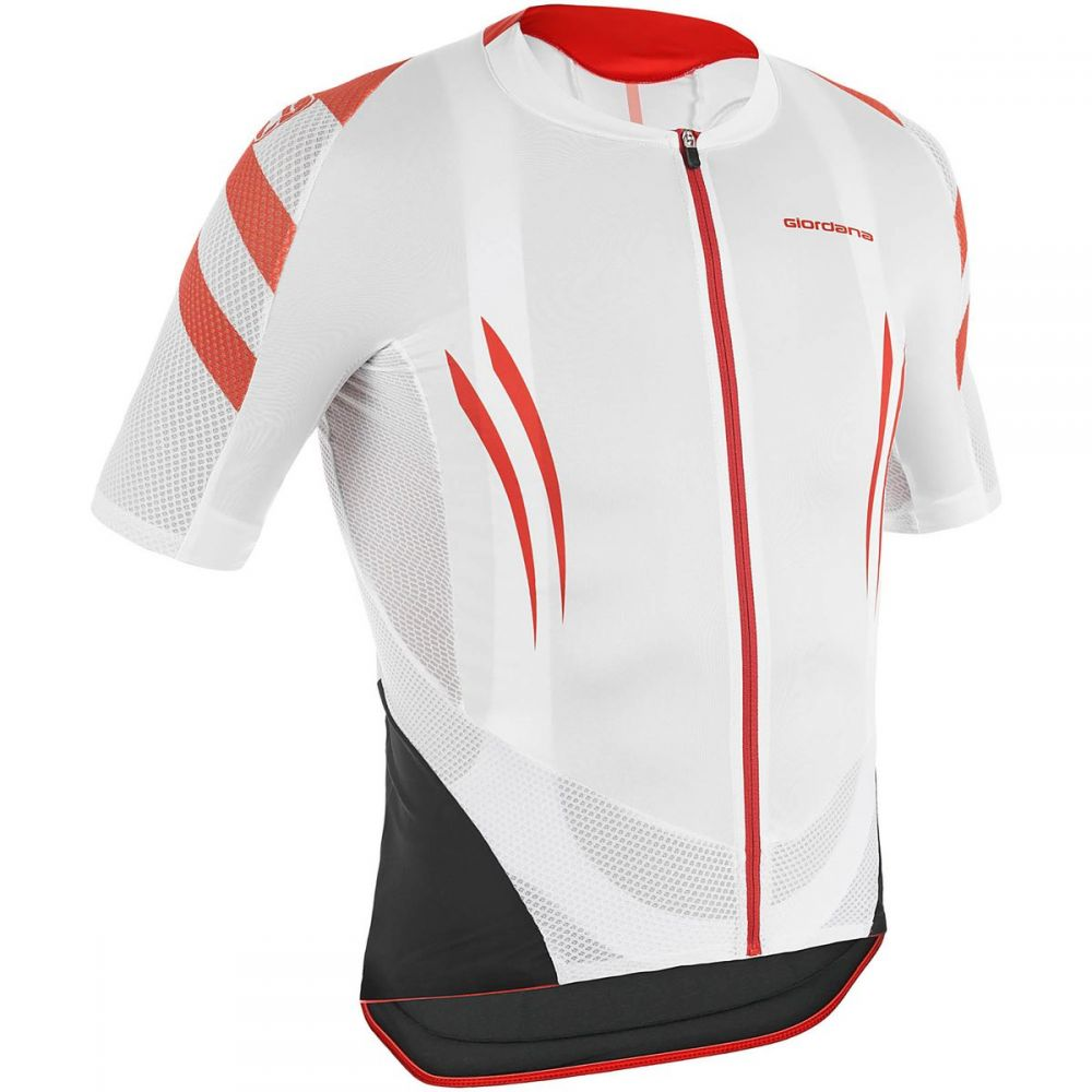 【あすつく】 ジョルダーノ Giordana Jersey メンズ 自転車 Short トップス【EXO System Jersey - - Short Sleeves】White/Red, MODE ROBE:0bddf0ba --- ejyan-antena.xyz