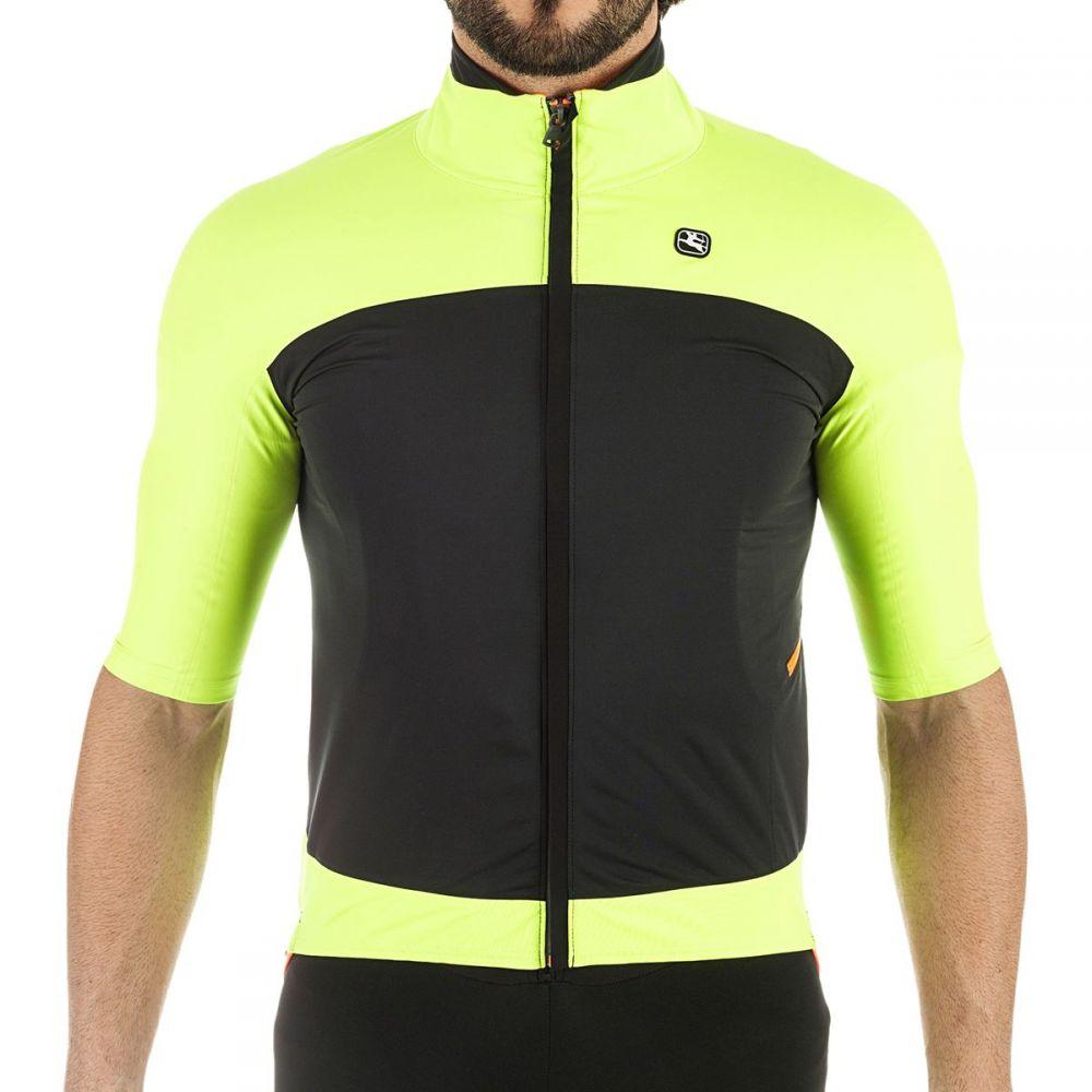 【おしゃれ】 ジョルダーノ Giordana メンズ 自転車 Short アウター ジョルダーノ【AV 100 H20 Winter Winter Jacket - Short - Sleeves】Yellow Fluo/Black, ステップスポーツ:f5f55714 --- clftranspo.dominiotemporario.com